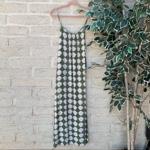 Green and white patterned maxi by Merona.
